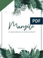 Manzili - Carte du restaurant éphémère de Mohamed Cheikh