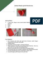 Cara Membuat Buah Apel 3D dai Kertas