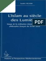 L'Islam Au Siècle Des Lumières _ Image de La Civilisation Islamique Chez Les Philosophes Français Du XVIIIème Siècle ( PDFDrive )