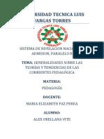 ALEX_ORELLANA_Generalidades Sobre Las Teorías y Tendencias de Las Corrientes Pedagógica