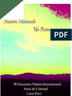 Poemario III Encuentro Poético Internacional Aires de Libertad 15 de marzo