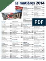 LOCO REVUE Table des matières 2014