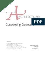 Concerning Licensure