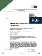 PROPOSITION DE RÉSOLUTION COMMUNE