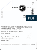 Unified S-Band Telecommunications Techniques for Apollo Volume II Mathematical Models and Analysis