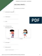 ATENDIMENTO NUTRICIONAL INFANTIL - Formulários Google