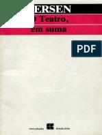 Alessandro Fersen - O Teatro, Em Suma