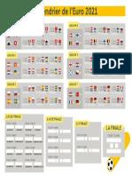 Calendrier Euro 2021