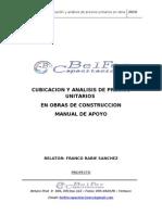 Manual Cubicacion