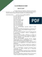 Ley N° 27657 - Ley del Ministerio de Salud