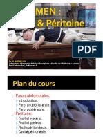 Dr_ ABDALLAH- paroi abdominale et peritoine- 2 annee medecine