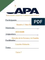 Ihandra Baez - Tarea 7 Derecho de LA FLIA