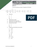 Skillsheet-11C -  Cambridge VCE Further Mathematics