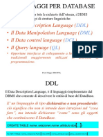 3Linguaggi Per DataBase