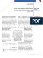 Trends in the study of public admin_empirical and qual observations