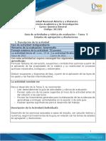 Guia de actividades y Rúbrica de evaluación - Unidad 2 - Tarea 3 - Estados de Agregación y Disoluciones