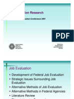 Job Evaluation Research