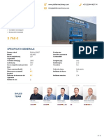 Specificatii generale GENIE GS1932 - PHM-Id 10927 - Pfeifer Heavy Machinery