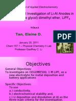 Electrochemical Investigation Chem 157.1