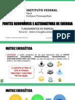 Tema 02 – Matriz Energética Brasileira