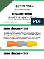 Tema 01 - Generalidades dos Sistemas Elétricos