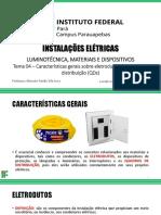 Tema 04 - Características gerais sobre eletrodutos e quadros de distribuição (QDs)