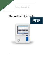 Manual de operação Analisador Hematológico Z3