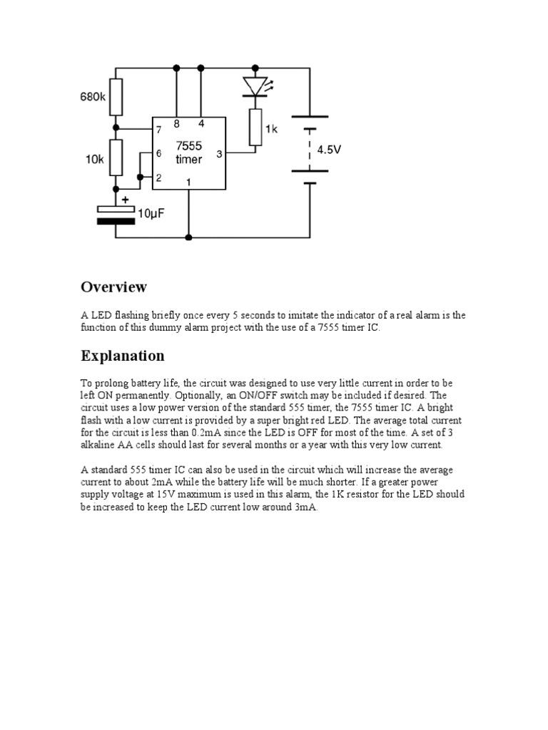 Simple 555 Timer Circuit