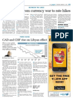 CAD and CHF Rise on Libyan Effect