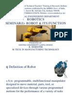 ROBOTICS presentation-1(NITTTR,KOL by SC&BB)