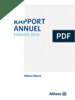 Rapport Annuel 2019 Allianz Maroc Vf