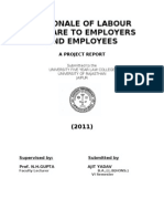 Rationale of Labour Welfare to Employers and Employees
