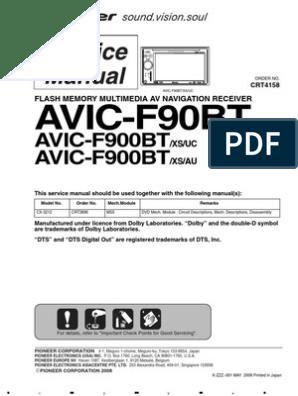 wiring diagram for pioneer avic f900bt pioneer avic f90bt xs uc f900bt uc au service manual  crt4158  pioneer avic