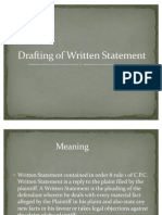 Drafting of Written Statement(Ppt by Adhiraj Singh and Abhishek Meena)