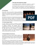 15 DANZAS MÁS POPULARES EN EL MUNDO