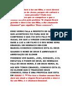 SERMÃO EMANUEL DEUS CONOSCO ESTÁ