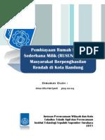 Pembiayaan RUSUNAMI bagi MBR di Kota Bandung
