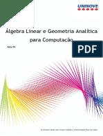 Álgebra Linear e Geometria Analítica 4