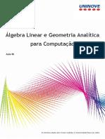 Álgebra Linear e Geometria Analítica 6