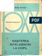 Jean Piaget - Nasterea inteligentei la copil