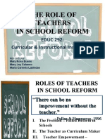 The Role of Teachers in School Reform