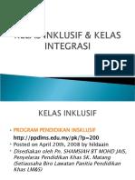 KELAS INKLUSIF & KELAS INTEGRASI