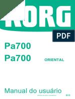 Manual Korg Pa 700 Inteiro Em Português