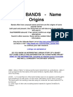 Band Name Origin