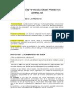 FORMULACIÒN Y EVALUACIÒN DE PROYECTOS COMPLEJOS