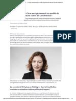 Alice Ekman_ «La Chine veut promouvoir un modèle de gouvernance alternatif à celui des Occidentaux»