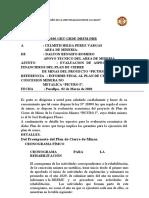 informe de evaluacion prespuestal plan de cierre formamos acero