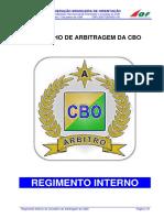 13. REGIMENTO INTERNO_Conselho Arbitragem CBO
