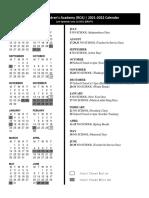 rca school calendar 2021-2022