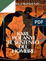 Karl Polanyi - El Sustento Del Hombre